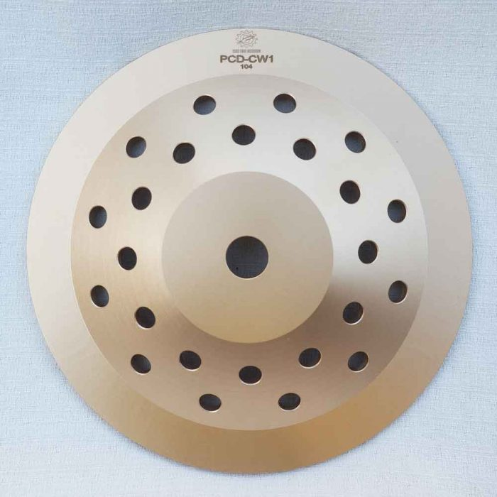 10 Inches Polycrystalline Diamond (Sharp PCD) Epoxy Removal Cup Wheel by High Tech Grinding