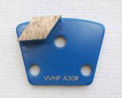 Metal Diamond Concrete Grinding Shoe 3-Hole Magnet Single Segment by High Tech Grinding