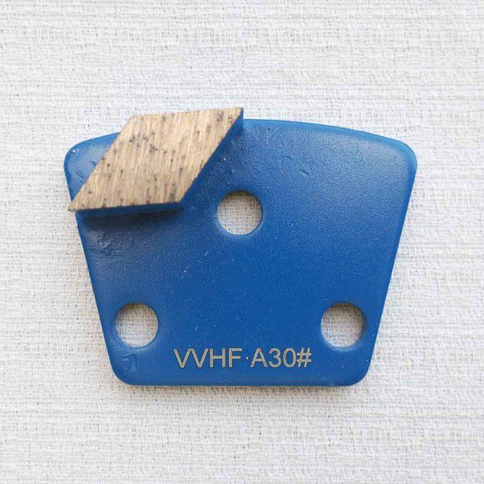 Metal Diamond Concrete Grinding Shoe 3-Hole Magnet Single Segment by High Tech Grinding